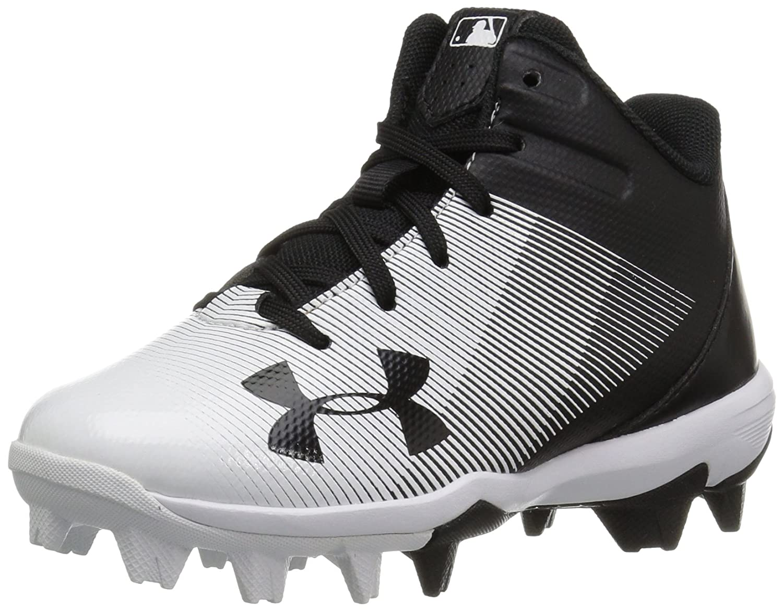 Under Armour Kids' Leadoff Mid Jr. Rm Baseball Shoe 1297314