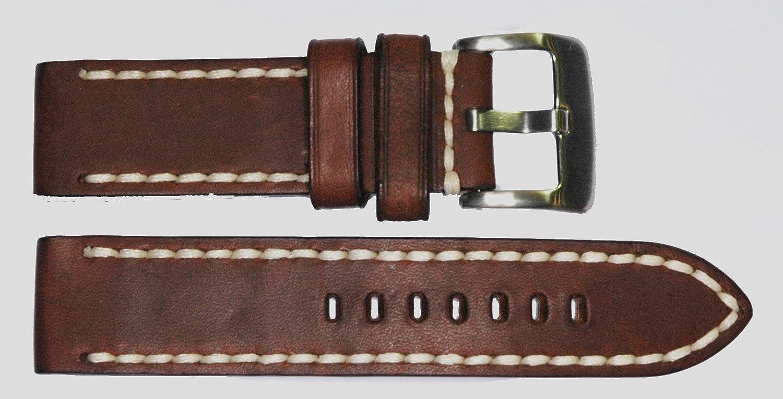 26mm marrón Resistente Silla de Montar Correa de Vacuno