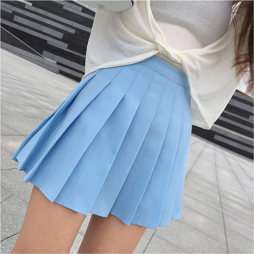 jimwili Lolita Faldas Plisadas de Cintura Alta para Mujer, Mini ...