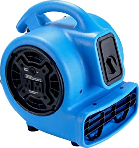 MOUNTO 1/5hp 3 Speed 800cfm Mini Commercial Air Mover Floor Dryer Fan