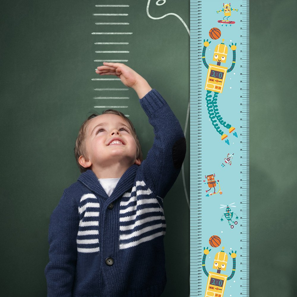 Growth Chart Height Growth Chart to Measure Baby, Child, Grandchild kids ruler Height Measure Chart Wall Decoration Growth Ruler Gift (blue)