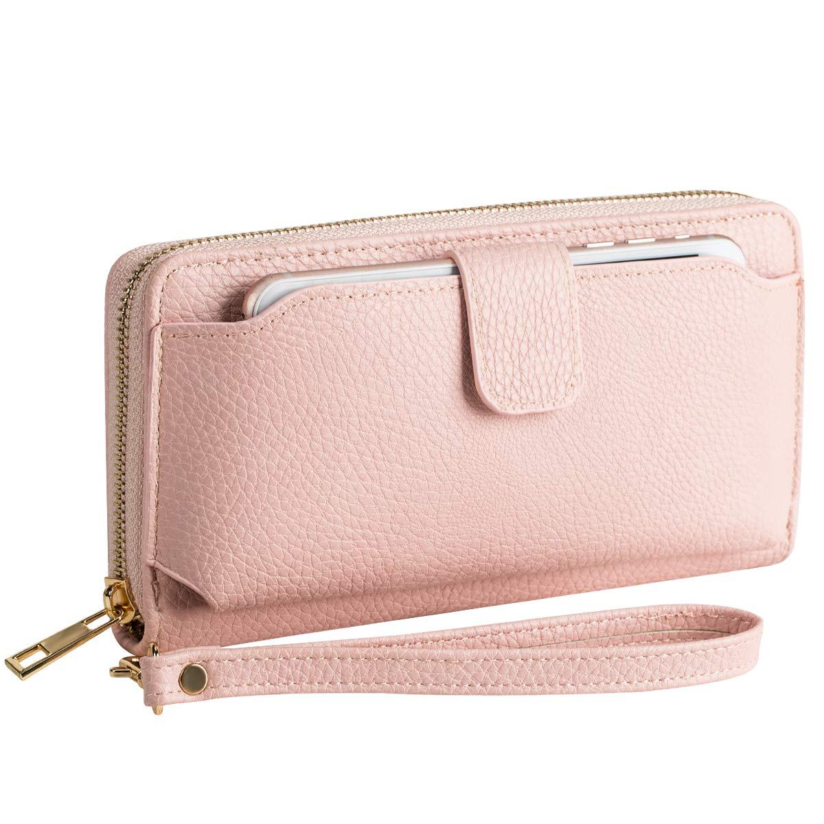 Wristlet Wallet Purses Women Cellphone Pocket Clutch by AMNF