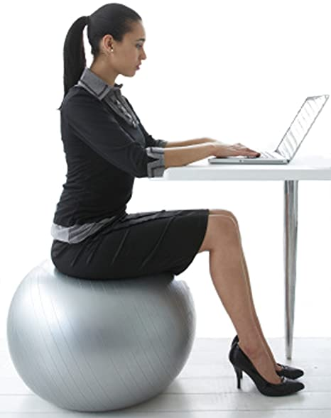 Stupendous Calcore Exercise Ball Chair From Professional Strength Antiburst Ball With Hand Pump For Office Yoga Stability And Fitness Home Interior And Landscaping Ponolsignezvosmurscom