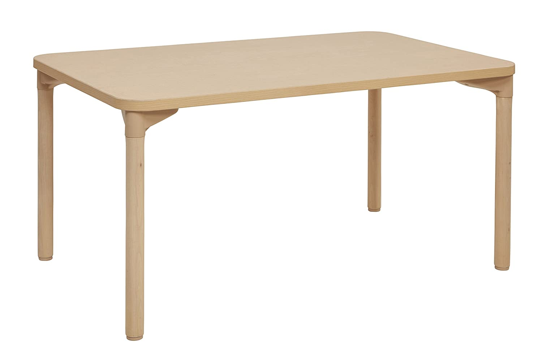Mesa escolar rectangular ECR4Kids, de arce, multiusos, con borde ...