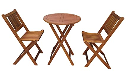 Amazoncom Merry Garden Products Bistro Table And Chair Set Garden