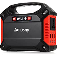 Portable Generator, 155Wh Power Inverter Battery Camping CPAP Emergency Home Use UPS Solar Charger Charged Solar Panel/Wall Outlet/Car 110V AC Outlet,3DC 12V,3USB Ports (Portable Generator)