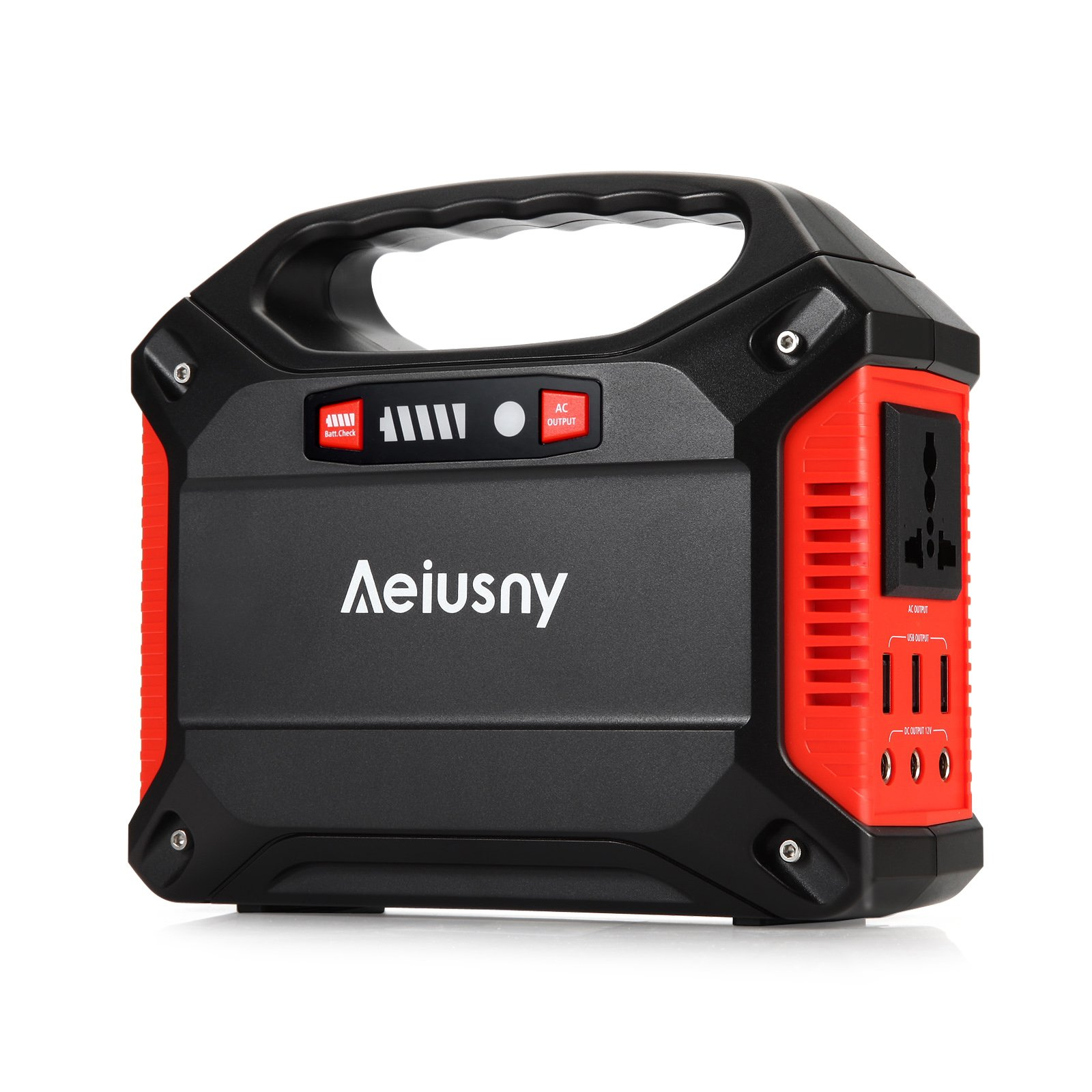 Aeiusny Portable Generator 155Wh Power Inverter Battery Camping CPAP Emergency Home Use UPS Solar Charger Charged by Solar Panel/ Wall Outlet/Car with 110V AC Outlet,3DC 12V,3USB Ports by Aeiusny (Image #1)