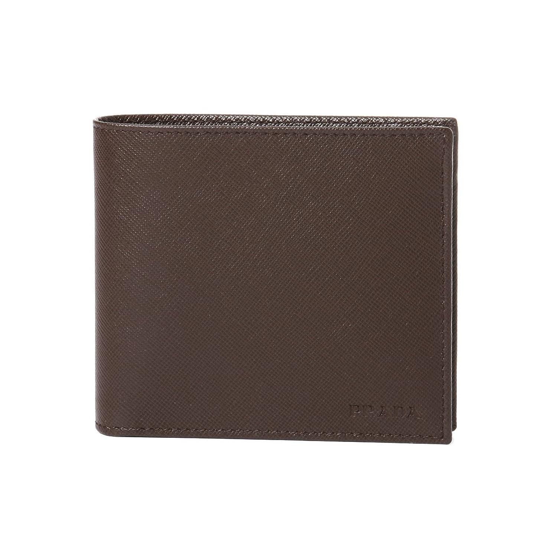 プラダ PRADA 財布 メンズ 2MO738 PN9 F0201 二つ折り財布 SAFFIANO 1 CAFFE ブラウン [並行輸入品] B07DZQ6M1S
