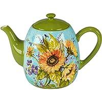 Certified International Sun Garden - Tetera (40 onzas), multicolor