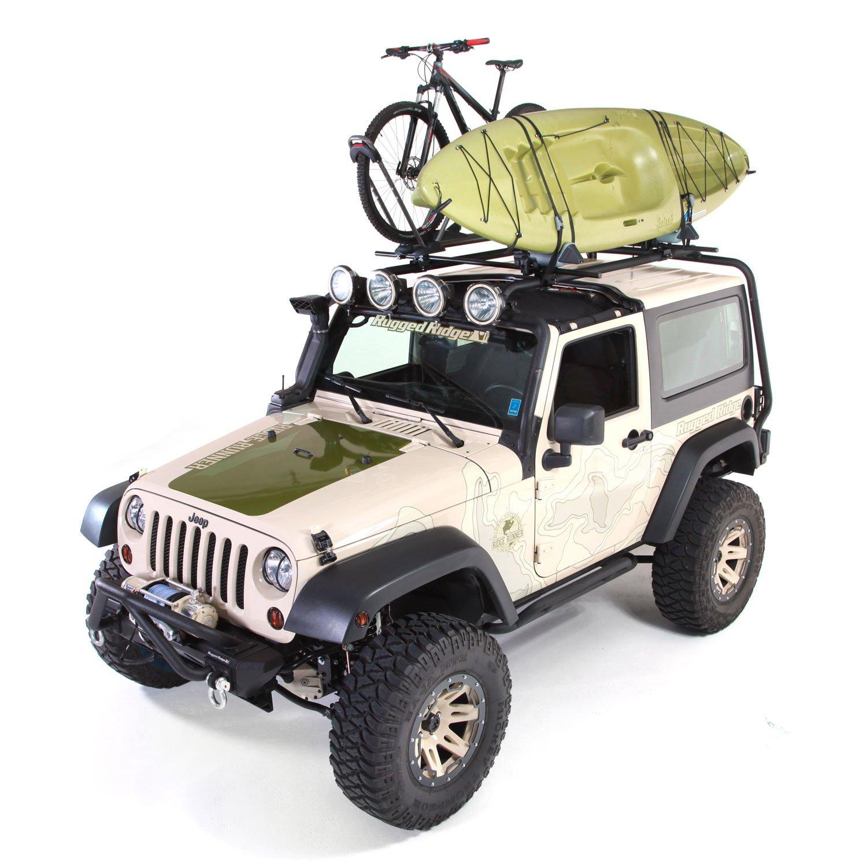 Amazon.com: Rugged Ridge 11703.21 Sherpa Roof Rack Kit For Jeep JK Wrangler  (2 Door): Automotive