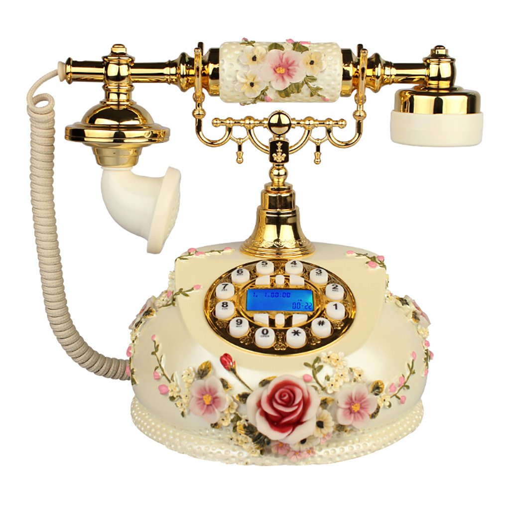 ZHILIAN Retro Telephone Vintage Telephone European Creative Home Landline Home Office Button Dial White Wired (Color : Hands-Free)