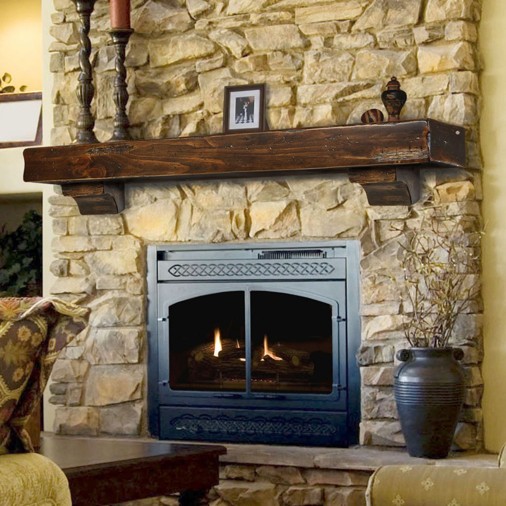 Amazoncom Shenandoah Fireplace Mantel Shelf Finish Espresso