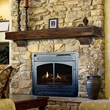 Amazon.com: Shenandoah Fireplace Mantel Shelf Finish: Espresso ...