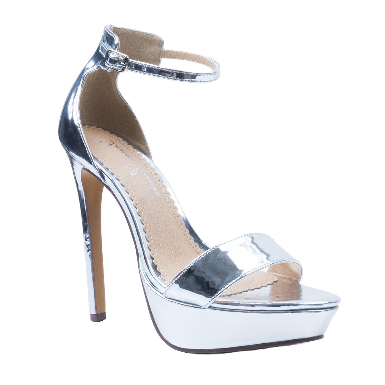 Lauren Lorraine Silver Darlene Platform Special Occasion Sandal B07B8VDX5G 7 B(M) US|Silver
