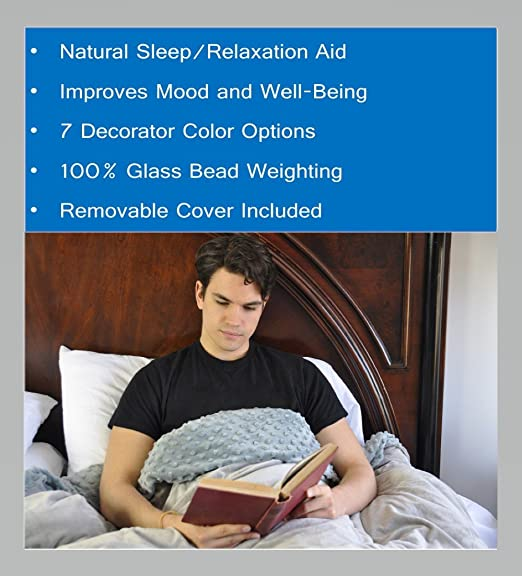 Premium Weighted Blanket for Relieving Anxiety, Stress, Agitation and Insomnia