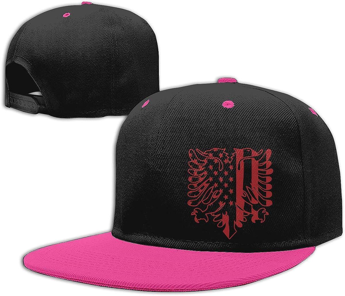 Albania America Flag Classic Hip-Hop Baseball Caps Men and Women Hiphop Cap