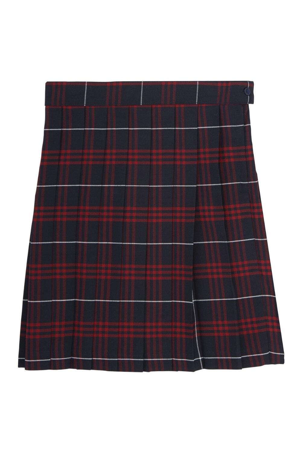 French Toast Big Girls' Plaid Pleated Skirt, Navy/Red, 10