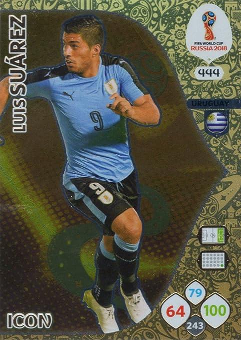 Adrenalyn XL FIFA World Cup 2018 Rusia – Luis Suárez tarjeta de comercio de icono – Uruguay # 444: Amazon.es: Deportes y aire libre