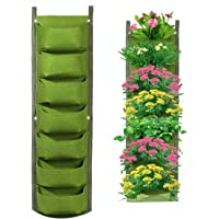 Hanging Grow Bags, YanYoung Upgraded Deeper and Bigger Hanging Vertical Garden Wall Planter with 7 Pockets,Waterproof…