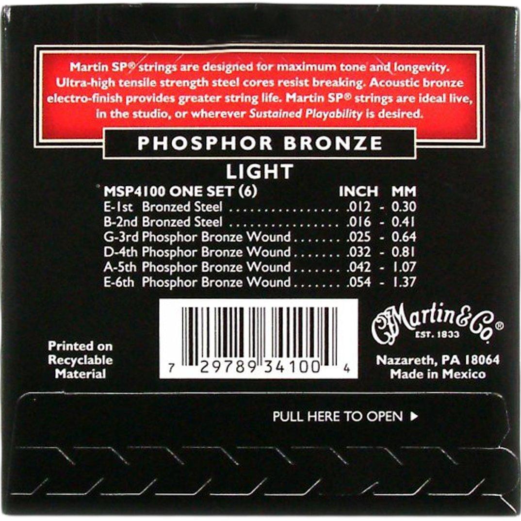 Martin MSP4100 SP Phosphor Bronze Acoustic Guitar Strings, Light C.F. Martin & Co.