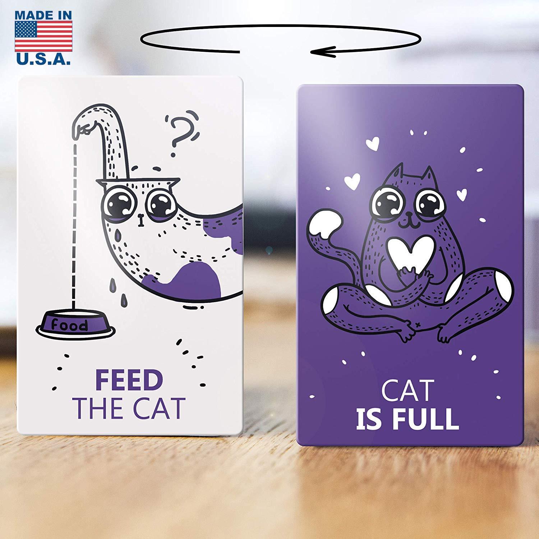 Imán reversible para nevera, doble cara - alimentar al gato - El ...