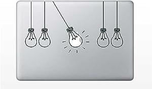 Laptop Sticker Decal - Light Bulbs Strings - Matte Black Skins Stickers