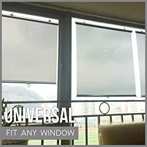 wanzi2 Summer Retractable Car Window, Baby Sun Shade, Roll Curtain Visor, Home Window Shade, Office Window Shade, Cover Roll Curtain Visor, Easy to Install and Shrink, Sun Protection and Durable