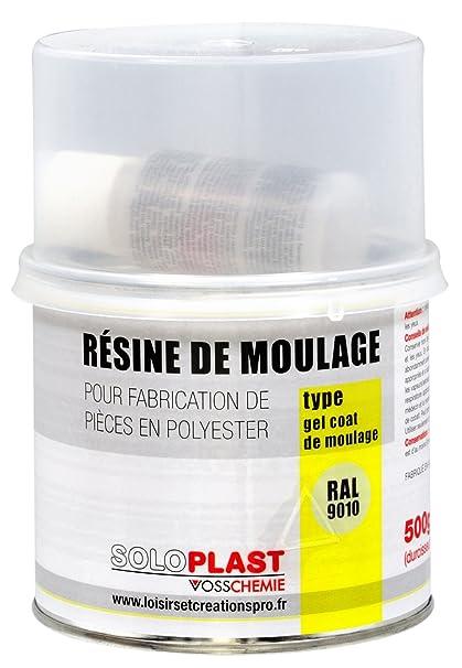 Soloplast 132854 9010 resina de superficie para moldeo/Type Gelcoat blanco