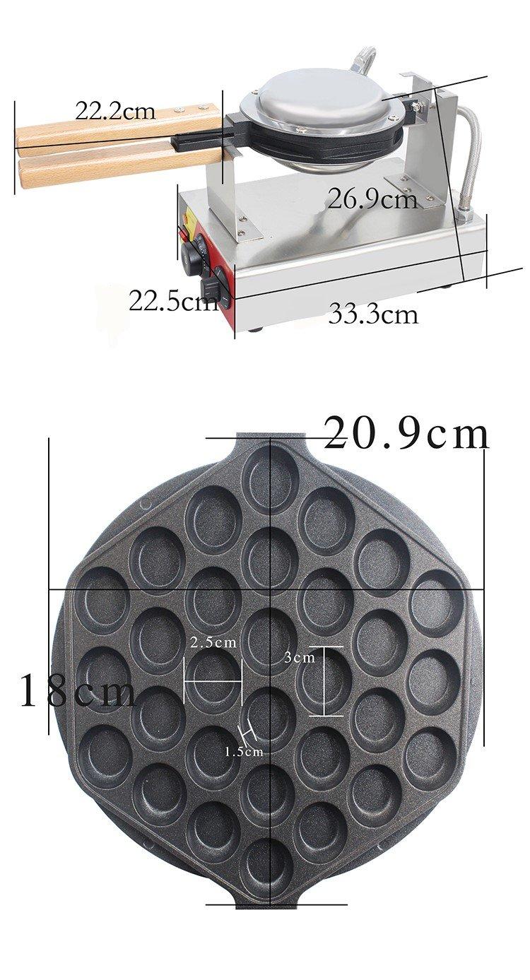 CGOLDENWALL Kommerzielle Waffeleisen Elektrische Hong Kong eggettes ...