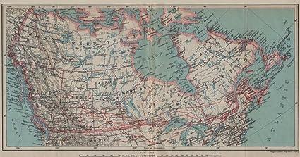 Amazon.com: BRITISH NORTH AMERICA General map. Canada ...