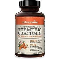 NatureWise Curcumin Turmeric 2250mg | 95% Curcuminoids & BioPerine Black Pepper Extract | Advanced Absorption for…