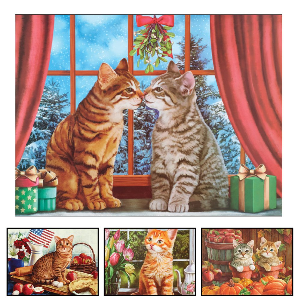 Seasonal Cats Dishwasher Magnet Set by Collections Etc