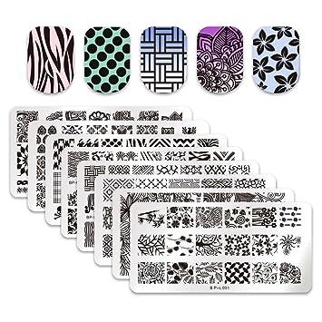 Amazon Born Pretty 8pcs L001 008 Nail Art Stamp Stamping