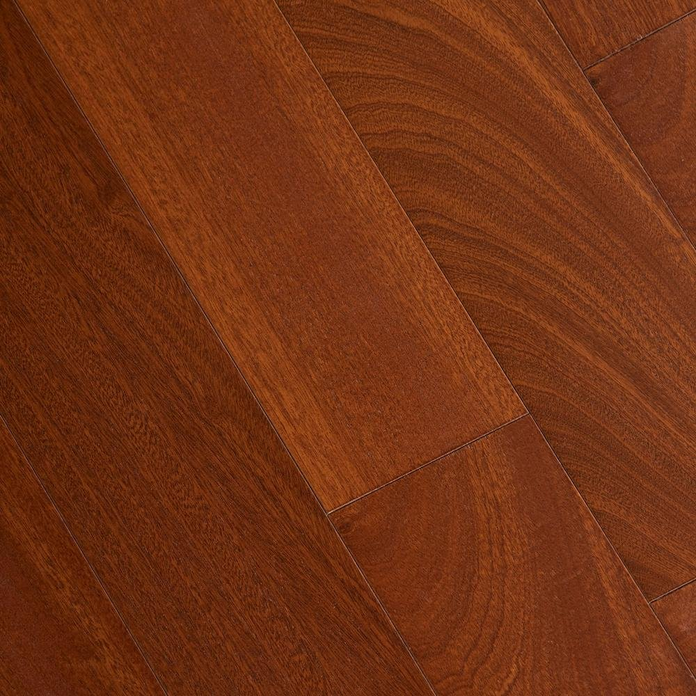 Matte Chamois Mahogany 3/8 in. Thick x 5 in. Wide x 47-1/4 in. Length Click Lock Hardwood Flooring (19.686 sq. ft./case)