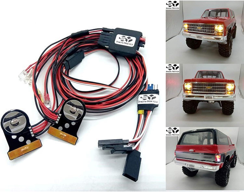 LICHIFIT SY-RC OneLine-TRX4 V2.0 Juego de Luces LED para Traxxas TRX-4 Chevrolet K5 Blazer Body