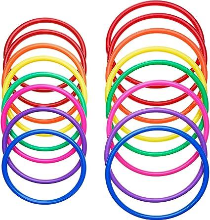 24pcs Plastic Toss Rings Kids Ring Toss Game for Kindergarten Garden Backyard Outdoor Games Random Color