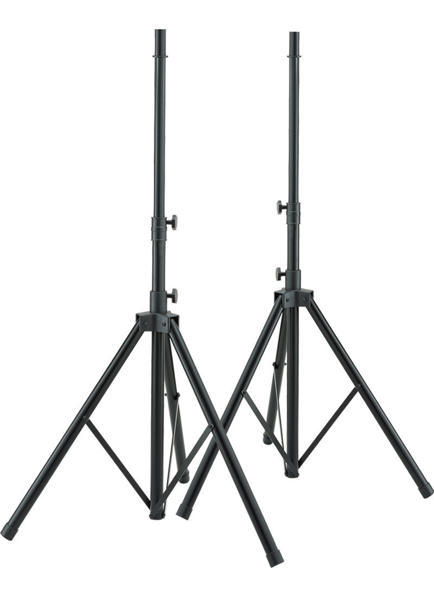 Stage Rocker Powered by Hamilton SR7507002 Aluminum Speaker Stand with Adapter - Black - 2 Pieces