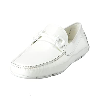 Parigi NG Men's White Loafers Moccasins Casual Shoes US 7EE IT 6EE EU 40EE