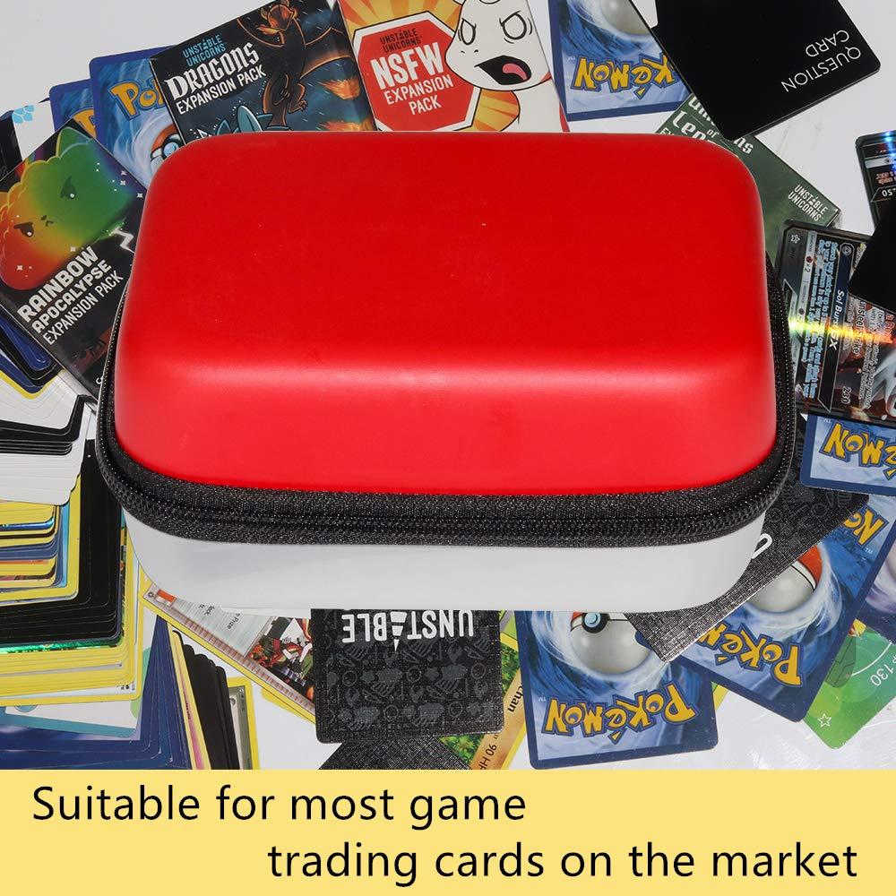 Brappo /étui Rigide de Transport Voyage Sac de Rangement pour Pokemon Trading Cards Peut contenir jusqu/à 550 Cartes /à /échanger Pokemon,avec s/éparateur Amovible. Noir