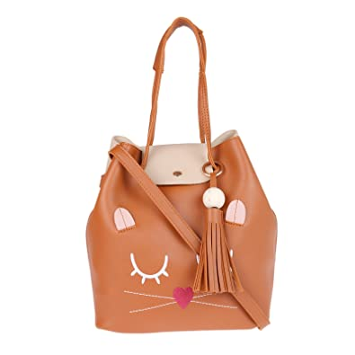 0032dde7f600 Fur Jaden Tan Ladies Bucket Tote Handbag for Woman  Amazon.in  Shoes    Handbags