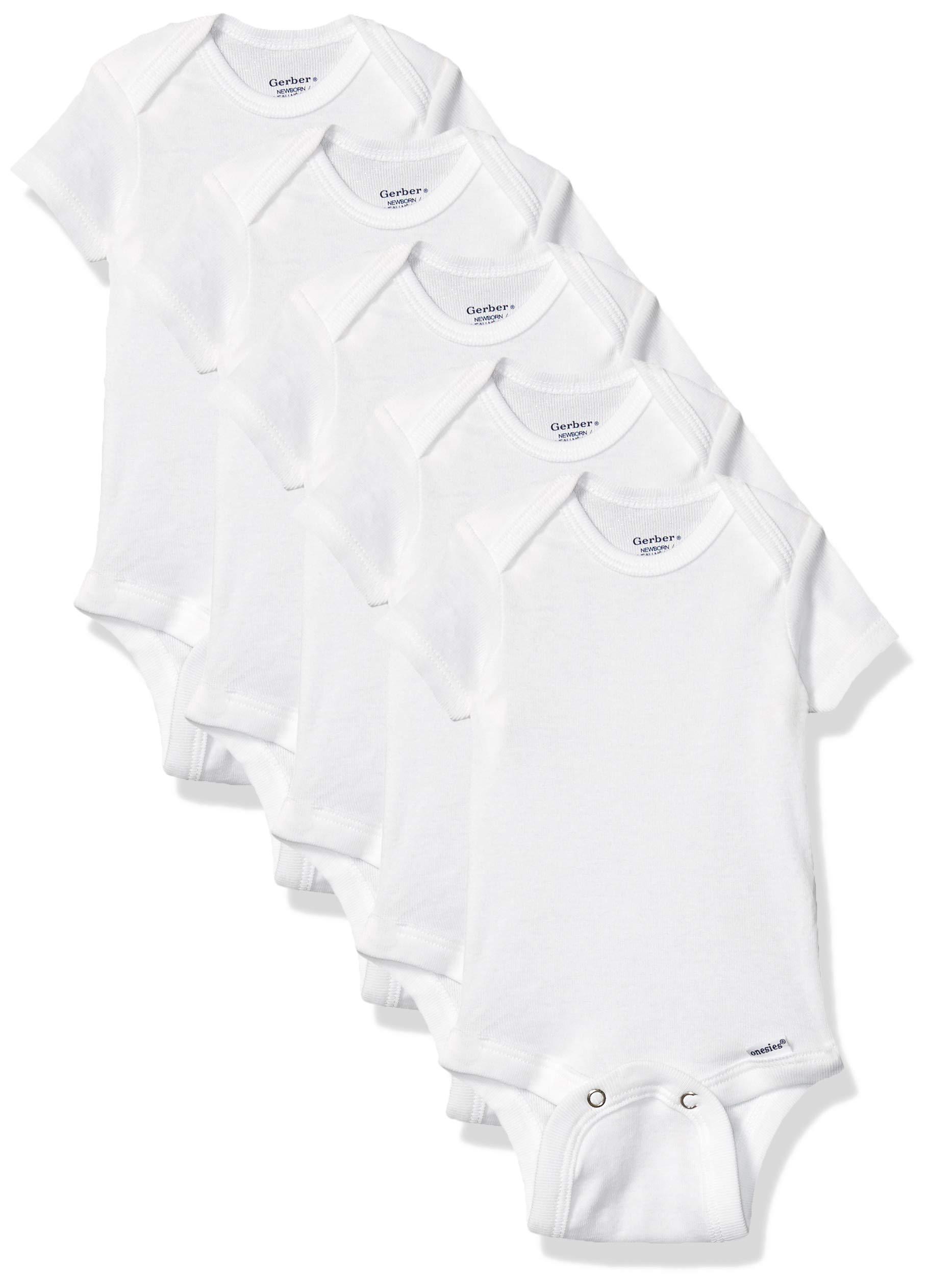 GERBER Baby 5-Pack Solid Onesies Bodysuits