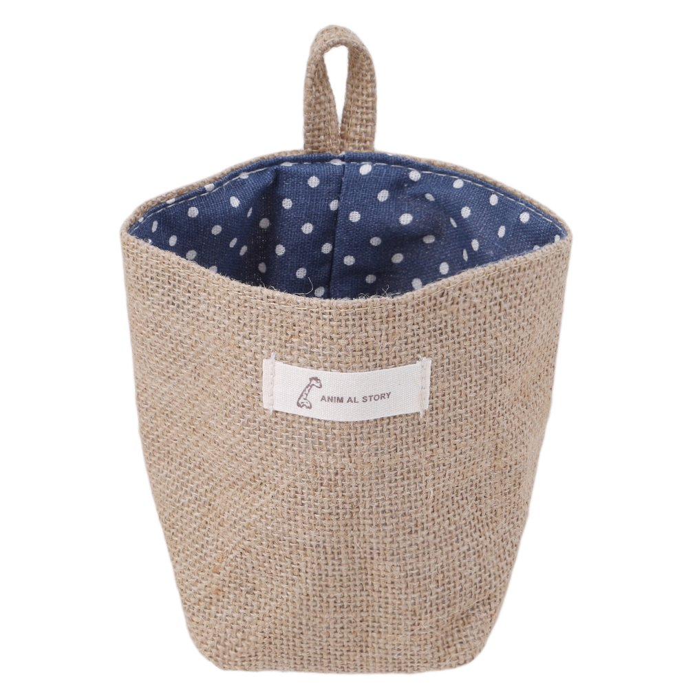 b9958c7ccb7f Amazon.com: Myhouse Sundry Basket Cotton Linen Storage Organizer Box ...