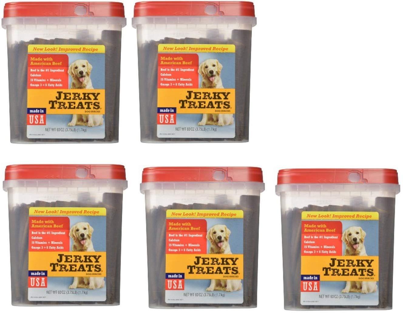 Jerky Treats Tender Beef Strips Dog Snacks, 60 oz, 5 Pack