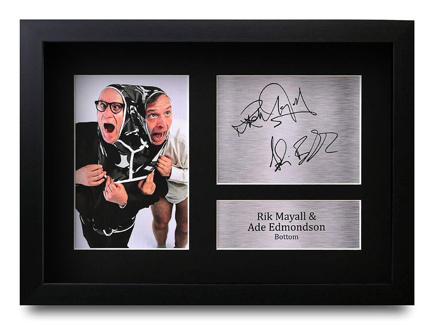 HWC Trading Bottom Geschenke Unterzeichneten A4 Gedrucktes Autogramm Rik Mayall Ade Edmondson Eddie Richard Druck-Foto-Bilderanzeige