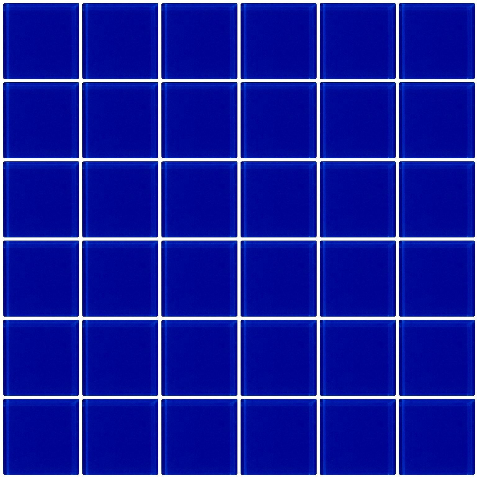 Vogue Premium Quality 2'' Cobalt Blue Glass Mosaic Tile on Mesh Designed in Italy (12x12)