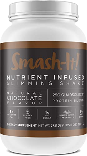 Primal Labs Smash-It Nutrient Infused Whey Protein Powder, Keto, Gluten-Free, Low Carb Protein Shakes for Weight Loss, Meal Replacement Shakes in Delicious Chocolate Flavor, 780 Grams
