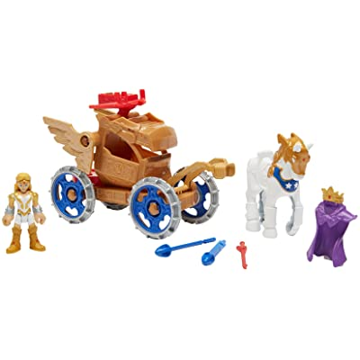 Fisher-Price Imaginext DC Super Friends, Wonder Woman Hippolyta & Battle Chariot: Toys & Games