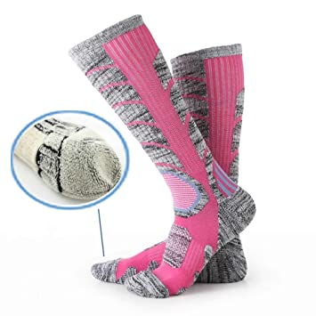 STDA - Calcetines cálidos de lana para correr, esquí, senderismo, trekking, para