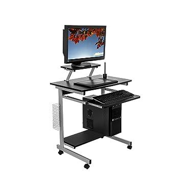 Wunderbar Harima  Capilano Professioneller Kompakt Computer Schreibtisch Schwarz  Computerwagen Computertisch Bürotisch PC Tisch Druckerablage Büromöbel