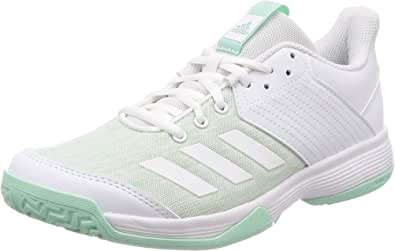 adidas Performance Womens Ligra 6 Indoor Court Trainers - White/Mint Green
